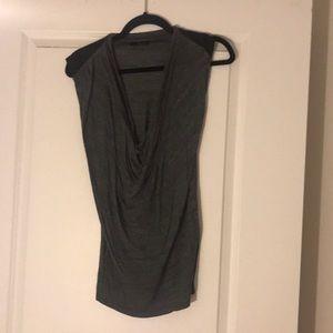 Zara grey and black shirt